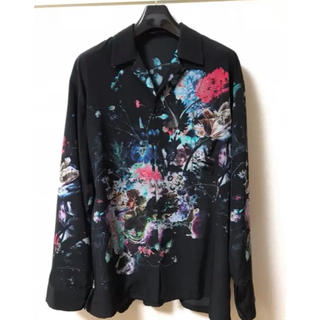 LAD MUSICIAN - ラッドミュージシャン 花柄シャツ オープンカラーシャツ 46 ViViD