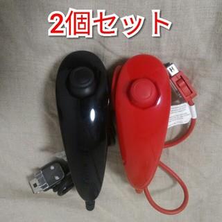 ウィー(Wii)のwii ヌンチャク赤黒セット 動作確認済み(その他)