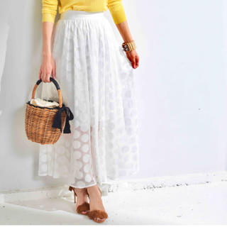 Drawer - obliドットスカート ホワイト