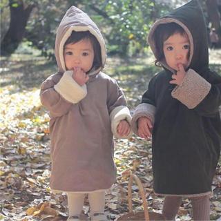 キャラメルベビー&チャイルド(Caramel baby&child )のmenina daikanyama ボアフーディコート(コート)