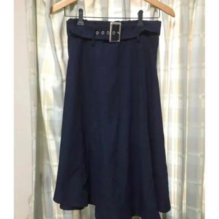 シマムラ(しまむら)のフレアスカート スカート ロングスカート ネイビー L しまむら(ロングスカート)