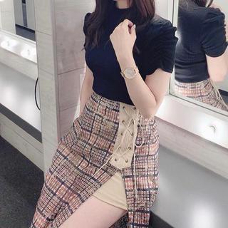Lily Brown - リリーブラウン♡レースチェックスカートパンツ