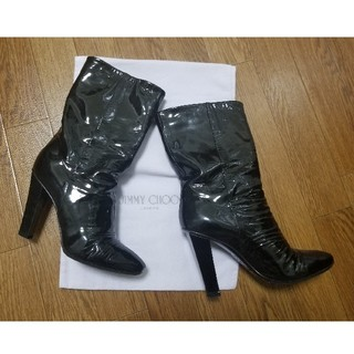 JIMMY CHOO - ☆JIMMY CHOO ジミーチュウ エナメル ブーツ ブラック ルブタン好き☆