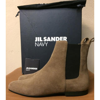 ジルサンダー(Jil Sander)の新品 jilsander navy スエード アンクル サイドゴアブーツ (ブーツ)