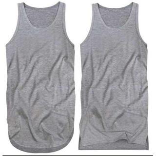 2枚 タンクトップ メンズ 三代目 TAKA メタリカ すそ丸 角 3L 灰(Tシャツ/カットソー(半袖/袖なし))