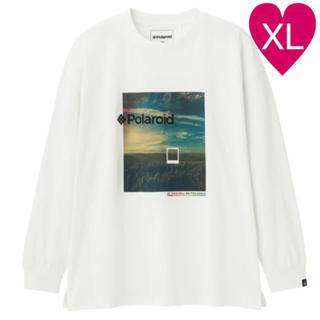 GU - ◆ GU polaroid Tシャツ ビッグT 長袖 ホワイト XL