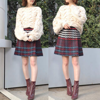 MERCURYDUO - 新品 タグ付き 人気 完売 ♡ MERCURYDUO ツイード ミニ スカート