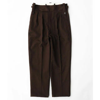 COMOLI - NEAT Cotton Kersey Beltless [Brown] M