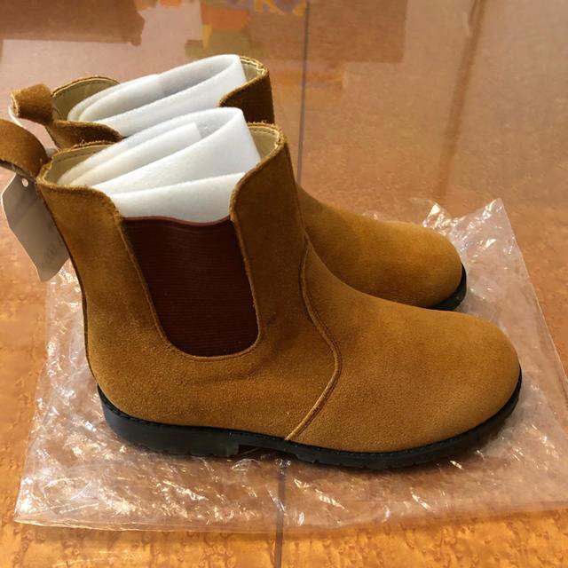 familiar(ファミリア)の☆新品 ファミリア ブーツ 19cm キャメル キッズ/ベビー/マタニティのキッズ靴/シューズ (15cm~)(ブーツ)の商品写真