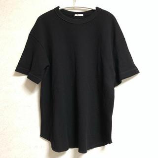 GU - GU ワッフルT 半袖 ブラック