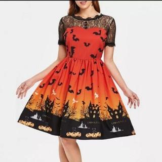 大人気♥️大きいサイズ ハロウィン ワンピース(ミディアムドレス)