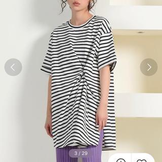 リップスター(LIPSTAR)のリップスター / クウボウ天竺ねじりチュニックTシャツ(Tシャツ(半袖/袖なし))