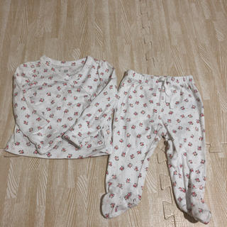 ベビーギャップ(babyGAP)のベビーギャップ babygap セットアップ 長袖長ズボン 花柄 60cm(パジャマ)