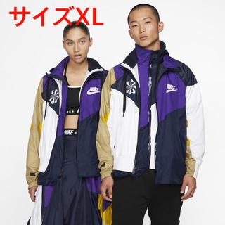 サカイ(sacai)のnike × sacai ナイロンジャケット アウター アノラック 紫×白 XL(ナイロンジャケット)