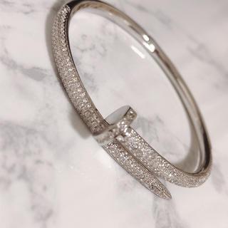 Cartier -  18k plating  cz diamond nail bracelet