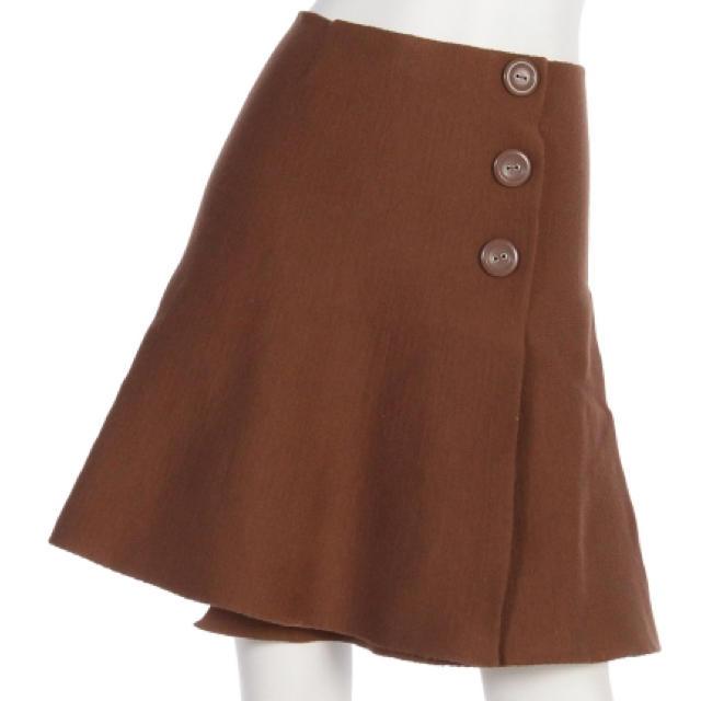 who's who Chico(フーズフーチコ)のchico  ニットスカート ブラウン 新品未使用 レディースのスカート(ミニスカート)の商品写真