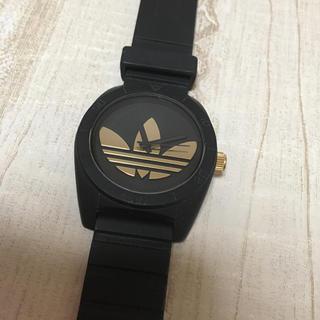 adidas - アディダス腕時計 adidas 黒 金 サンティアゴ