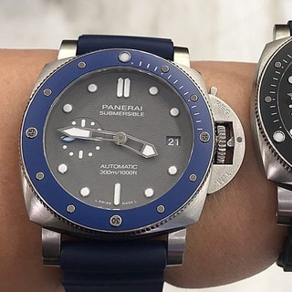 パネライ(PANERAI)のPANERAI 国内正規サブマーシブルPAM00959 新品ブルー(腕時計(アナログ))