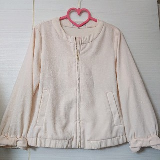 クチュールブローチ(Couture Brooch)のリボン袖☆ベージュブルゾン(ブルゾン)