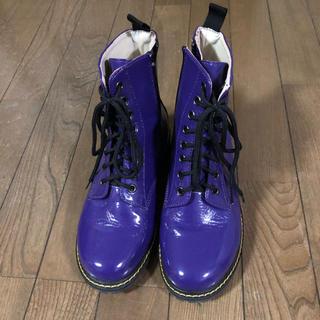 紫 ショートブーツ(ブーツ)