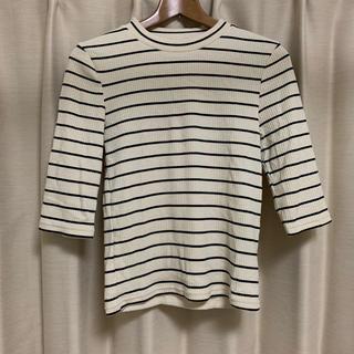 ジーユー(GU)の【GU】ボーダートップス(Tシャツ(長袖/七分))
