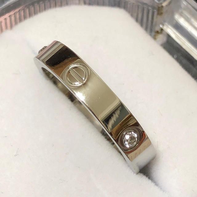 ラブリング 4ミリタイプ  レディースステンレスリング シルバー レディースのアクセサリー(リング(指輪))の商品写真