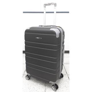中型軽量スーツケース8輪キャスター TSAロック付き Mキャリーケース グレー(スーツケース/キャリーバッグ)