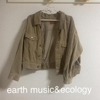 アースミュージックアンドエコロジー(earth music & ecology)の《earth music&ecology》ベージュコーデュロイジャケット(Gジャン/デニムジャケット)
