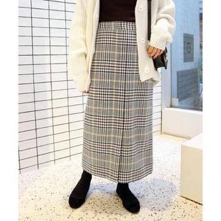 イエナスローブ(IENA SLOBE)の【お取り置き】2018AW スローブイエナ チェック ロングスカート 40(ロングスカート)