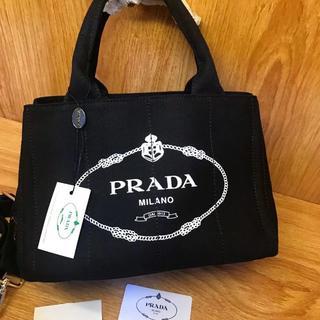 PRADA - プラダ 2way カナパ トートバッグ 黒 ブラック
