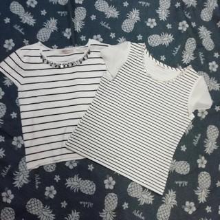 ミッシュマッシュ(MISCH MASCH)のボーダートップス二枚セット♡(Tシャツ(半袖/袖なし))