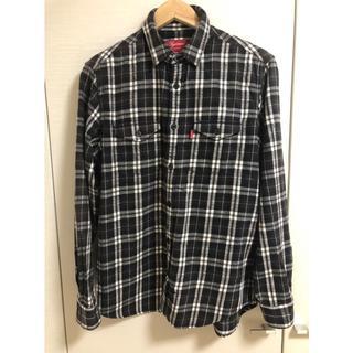 Supreme - supreme シュプリーム チェックシャツ ネルシャツ 黒