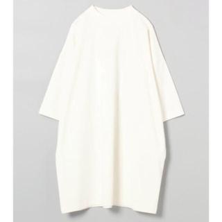 ジーナシス(JEANASIS)のジーナシス  BIGロングハイネックTEE ホワイト F(Tシャツ(半袖/袖なし))