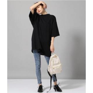 ジーナシス(JEANASIS)のジーナシス  BIGロングハイネックTEE ブラック F(Tシャツ(半袖/袖なし))