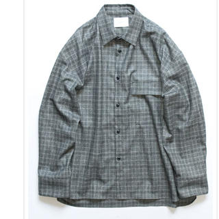 SUNSEA - stein OVERSIZED DOWN PAT SHIRT WOOL シャツ