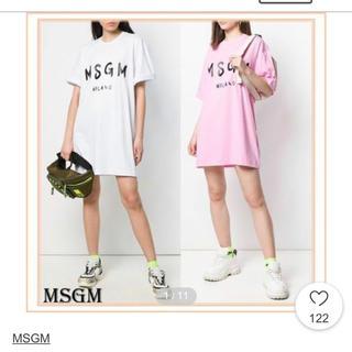 MSGM - MSGM Tシャツワンピース ピンク