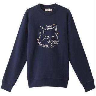 メゾンキツネ(MAISON KITSUNE')の新品 メゾンキツネ maison kitsune スウェット トレーナー 刺繍(スウェット)