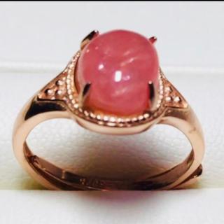 天然石インカローズピンクゴールドリング❣️😍❶(リング(指輪))