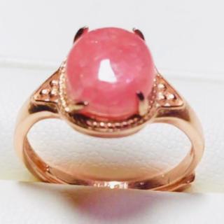 天然石インカローズピンクゴールドリング😍💝❷(リング(指輪))