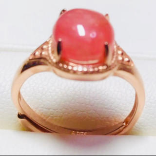 天然石インカローズピンクゴールドリング❸💝🉐️(リング(指輪))