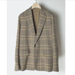 AURALEE WOOL SERGE CHECK JACKET