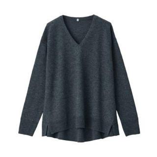 MUJI (無印良品) - 無印良品   ヤク混ウールVネックセーター