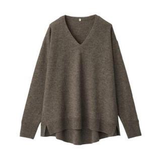 MUJI (無印良品) - 新品   無印良品  ヤク混ウールVネックセーター