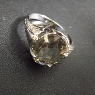 マルタンマルジェラ(Maison Martin Margiela)のSILVER925 crystal top Ring(リング(指輪))