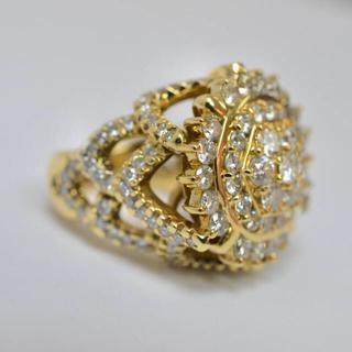 ダイヤ パヴェ  リング k18 (リング(指輪))