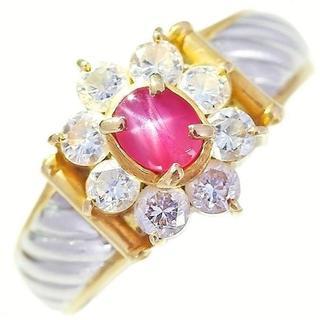 スタールビーリング 11号 K18YG ダイヤモンド (リング(指輪))