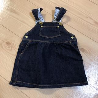 プチバトー(PETIT BATEAU)のプチバトー  デニム ジャンパースカート 6m 60 70(ワンピース)