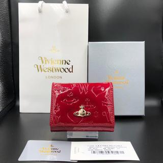 ヴィヴィアンウエストウッド(Vivienne Westwood)の特別価格 ヴィヴィアン  三つ折り財布  がま口  エナメルレッド(財布)