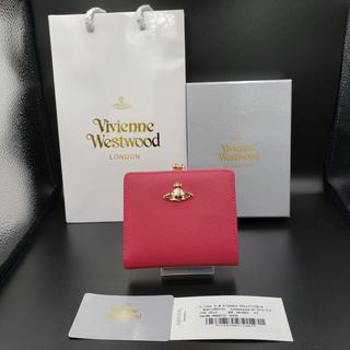 ヴィヴィアンウエストウッド(Vivienne Westwood)のヴィヴィアンウエストウッド 二つ折財布 ピンク がま口財布(財布)