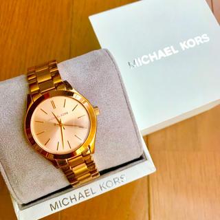 Michael Kors - 【美品!!】LADIES MICHAEL KORS 腕時計 ピンクゴールド🎀
